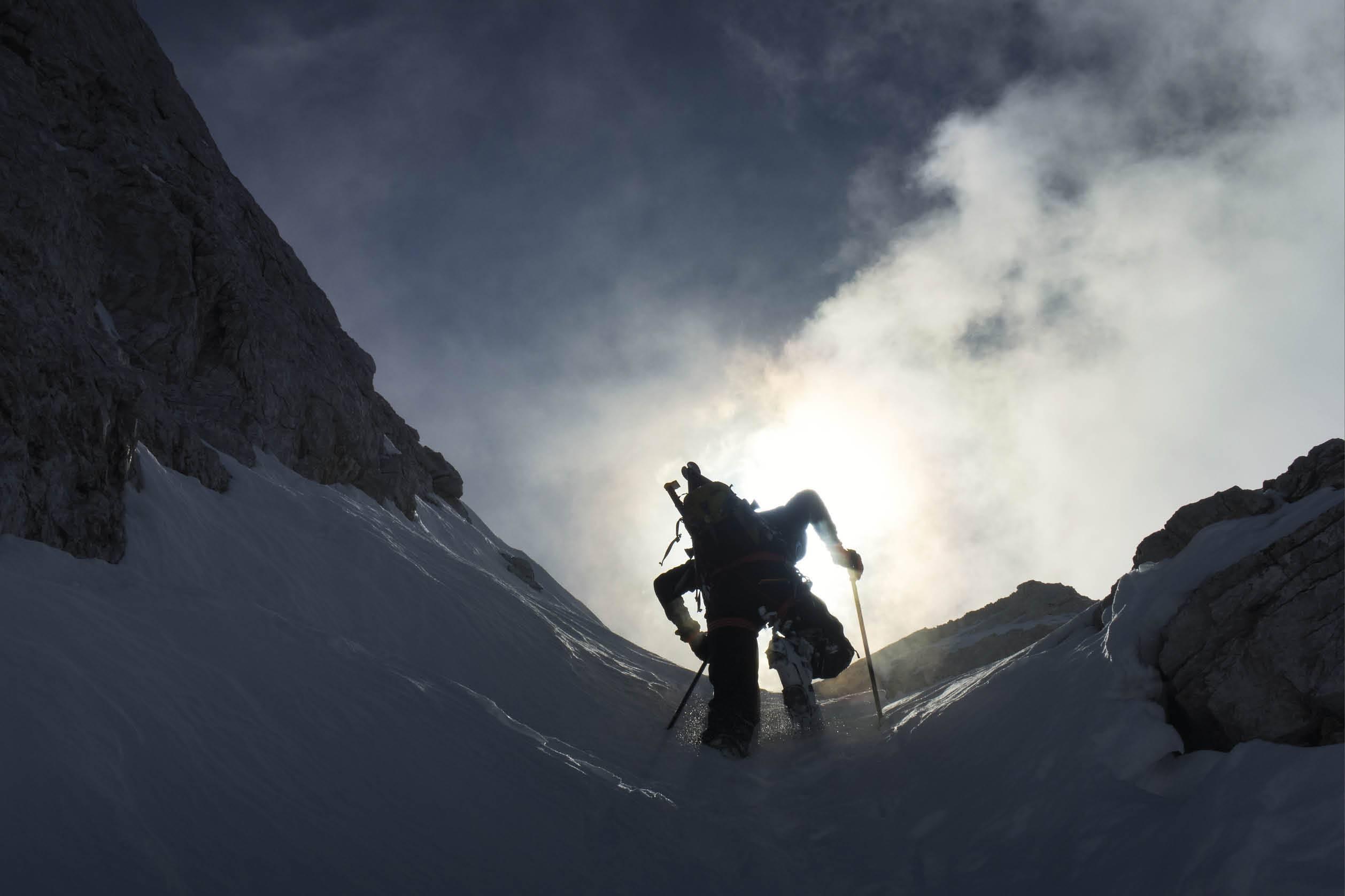 Il cuore che batte - scialpinista in scalata - Foto: Loris De Barba