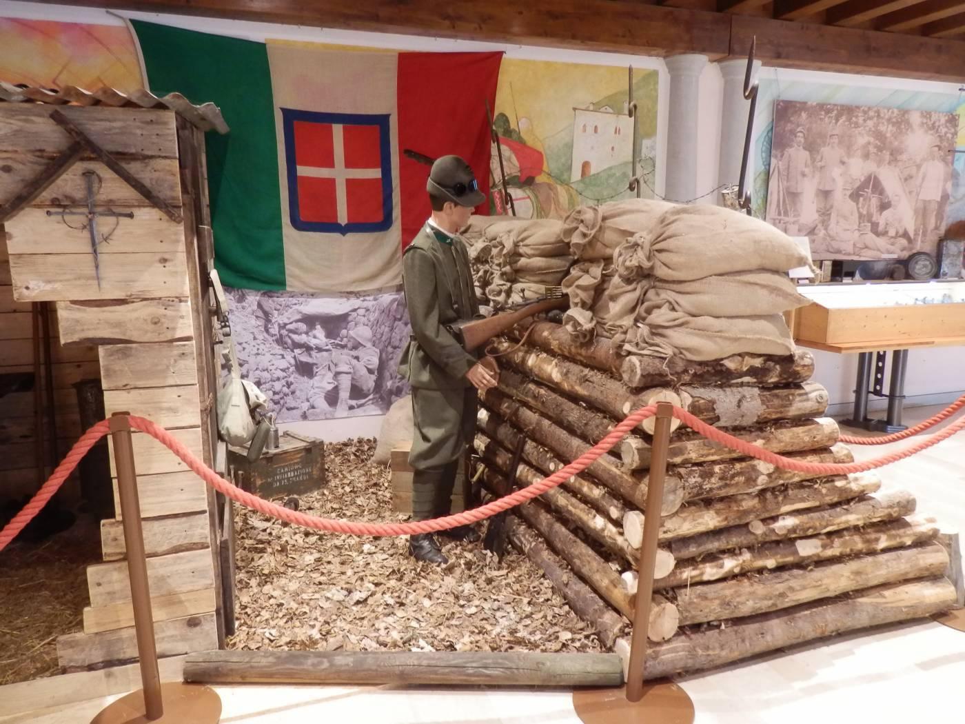"""Un angolo della mostra """"Memorie di Ferro"""" a San Gregorio nelle Alpi"""