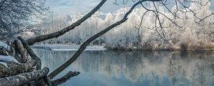 Lago di Busche in inverno